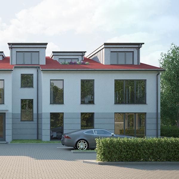 Ansicht von Haus 1 im Chevalier Garden Teltow bei Zehlendorf Berlin